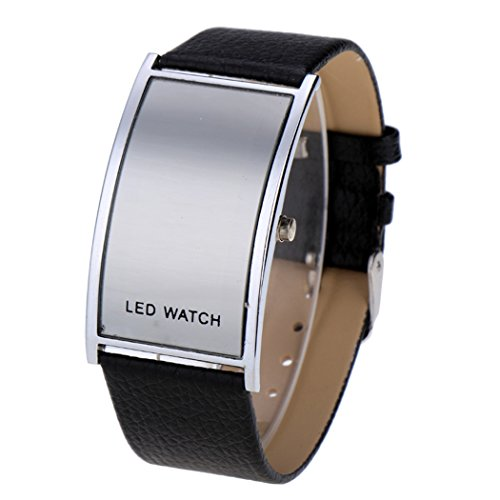 Aulei Wasserdicht LED Armbanduhr Herren & Damen Luxus Digital Sport Herrenuhr Quarz LED Watch