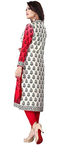 Maple Vêtements Kurti Tunique Imprimé Femmes Blouse Vêtements Indiens Rouge
