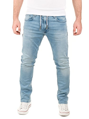 WOTEGA Herren Jeans - Sweathose in Jeansoptik Noah - slim, Blau (Blue Shadow 3R4020), W33/L32