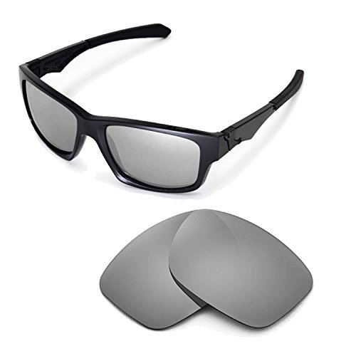 Walleva Ersatzgläser für Oakley Jupiter Squared Sonnenbrille - Mehrfache Optionen (Titanium Mirror Coated - Polarisiert)
