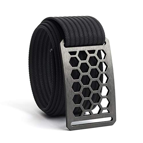 GRIP6 Honeycomb Belt Buckle with 115cm Black Belt Strap -
