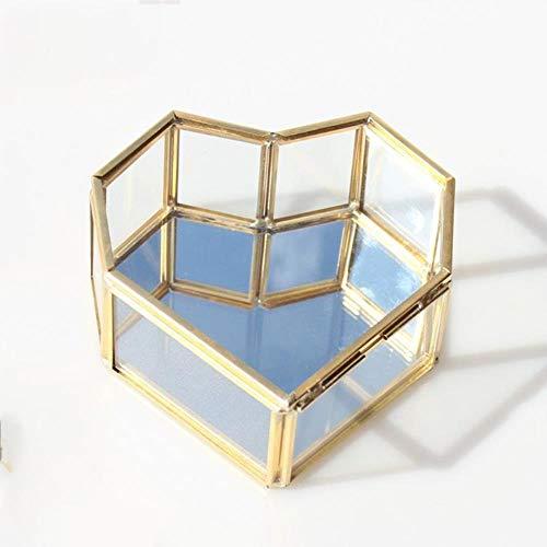 LGYLcuky Aufbewahrungsbox für Eheringe und Ringe, Glas, für Terrarien, Schmuck, Grün