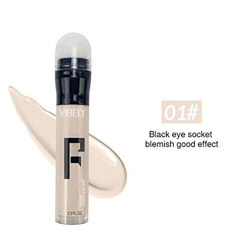 KISSION 6 Couleurs Bâton de Fondation de Dissimulateur Crémeux Highlighter Stick pour Contour Concealer Cosmétique Stick (A1)