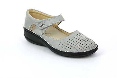 Grünland INES SC1400 taupe femme chaussures confort sangle déchirure ballerine CEMENTO