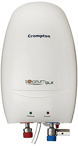 crompton indian solarium 3W DLX Instant Water Heater with Bryto LED Bulb (Ivory, 3 L)