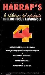 Bibliothèque espagnole Harrap's coffret 4 volumes : Verbes. Grammaire. Vocabulaire. Dictionnaire esencial français-espagnol et espagnol-français