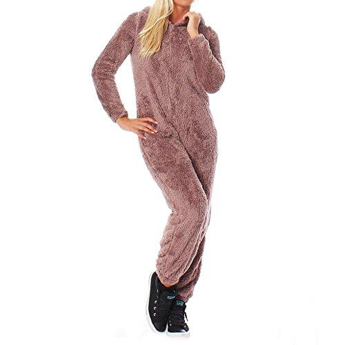 LBB Damen Jumpsuit Einteiler Overall Tier Anzug Rentier Gr. S