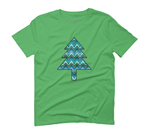 Christmas tree Men's Graphic T-Shirt - Design By Humans Green