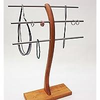 Schmuckständer Schmuckhalter Schmuckbaum Schmuckbäumchen Kirschbaum Holz für Armband Kette und Ring