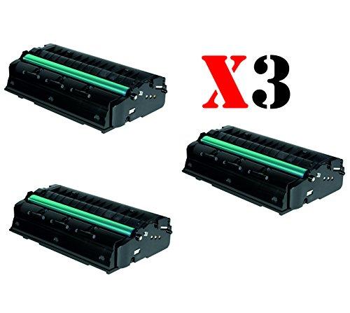 OFERTA - PACK 3 UNIDADES RICOH TONER AFICIO SP 300DN / SP 300 Series Negro 1.500 Paginas (5% cobertura) Generico ALTA CALIDAD Ref.406956