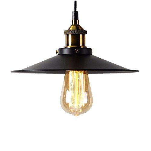 Retro Dig Lampe suspendue de style industriel rétro en métal pour cuisine, loft, chambre, bureau - 22,5 cm