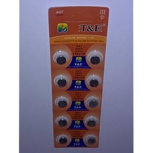 10x AG 7 Uhrenbatterie 395 399 926 927 für Armbanduhr Knopfzelle