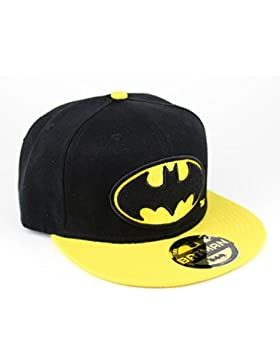 Batman - Cappellino Snapback con licenza ufficiale della DC Comics e logo The Dark Knight - regalo per veri fan...