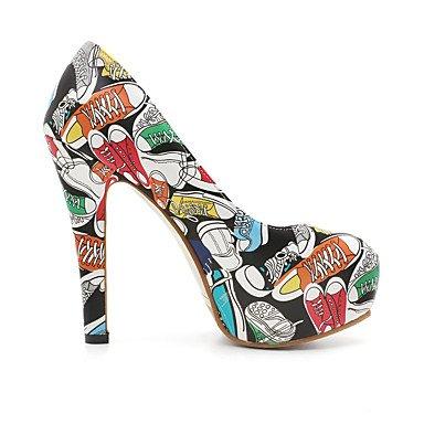 LFNLYX Frauen Fersen Frühling Sommer Fall Club Schuhe Kundenspezifische Materialien Casual Stiletto Ferse Schwarz Blau Rot White