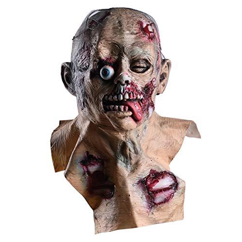 (FELICID Halloween Scary Maske Faule Gesicht Clown Latex Leicht Für Halloween Maskerade Kostüm Party (Color : Picture))