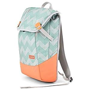 AEVOR Daypack Flicker Mint Coral - Rucksack für die Uni und Freizeit Inklusive Laptopfach und erweiterbar auf 28 Liter