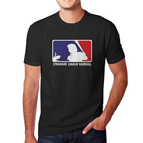 Planet Nerd Stranger League Baseball - Herren T-Shirt Schwarz