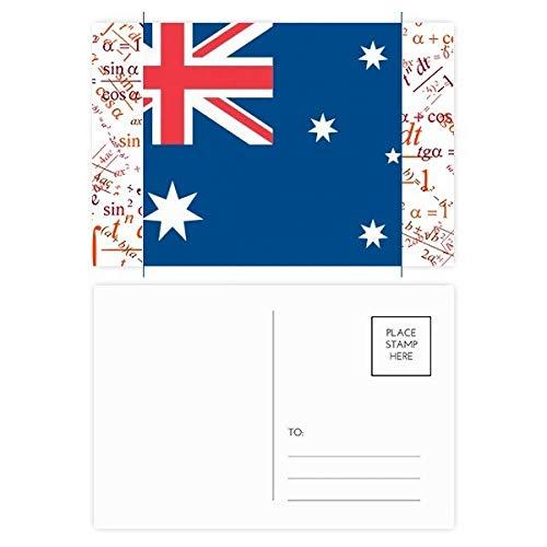 Postkarten-Set mit Australien-Nationalflagge Ozeanien, Landformel, 20 Stück
