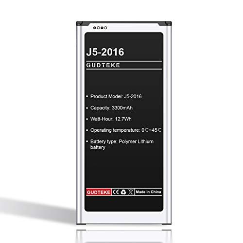 GUDTEKE Akku 3300mAh für Samsung Galaxy J5 Akku(2016), EB-BJ510CBE, SM-J510FN
