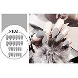 RENNICOCO 24 Teile/Satz Voll Fertige Stiletto Falsche Nägel Lange Design Künstliche Gefälschte Nägel Maniküre Werkzeuge