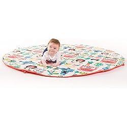 Manta de juegos para bebes XXL 160 cm plegable grande para gatear acolchada gimnasio suelo actividades alfombra Decoracion infantil Regalos bebe Varios modelos Fabricada en España (Jungle Rock)