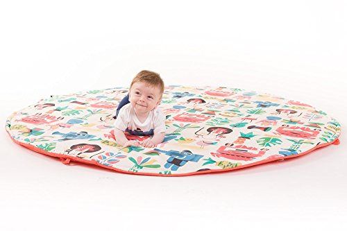 Manta de juegos para bebes XXL grande para gatear acolchada gimnasio suelo actividades alfombra Jungle Rock