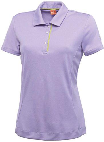 Puma Damen Golf Poloshirt Tech Short Sleeve Lila XS Persain Violet