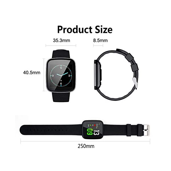 EUMI Smartwatch, Reloj Inteligente con IP67, Pulsera Actividad Inteligente Batería 10-15 días 1.3'' a Color 8… 9