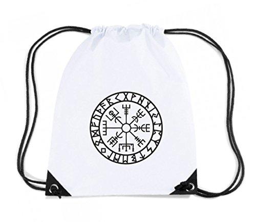 t-shirtshock-mochila-budget-gymsac-tir0267-vegvisir-futhark-runes-navigator-talla-capacidad-11-litro