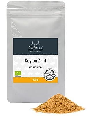 Pfefferdieb® Ceylon Zimt, gemahlen, Rohkostqualität, BIO, 250g von Pfefferdieb® by Mohnblume.de - Gewürze Shop