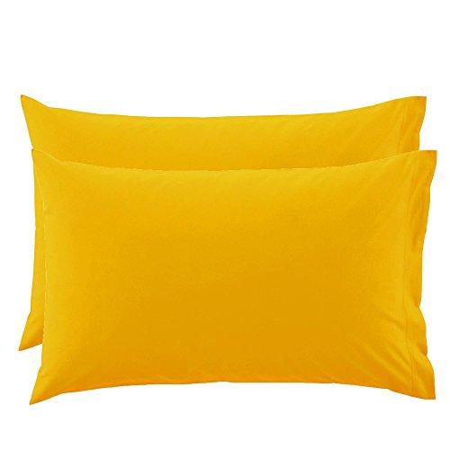 2 federe per guanciali bassetti time 50x80 - giallo 1471