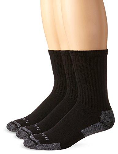 Carhartt All Season Funktions Socken 3er Pack A62, Farbe:schwarz, Größe:43-46