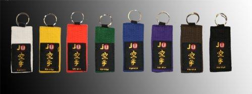 Schlüsselanhänger Gürtel Karate grün -