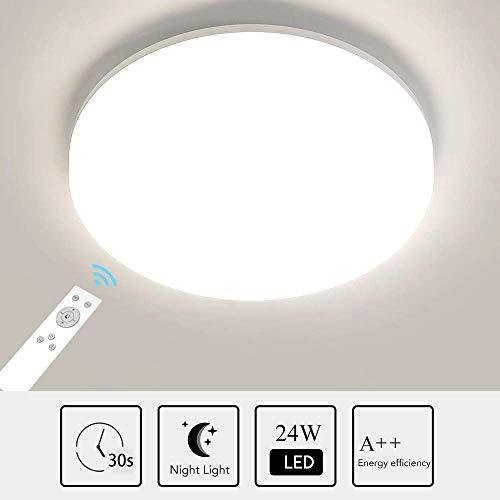 Anten Dimmbar Deckenleuchte LED 24W |Deckenlampe für Wohnzimmer, Flur, Arbeitszimmer mit 4000K~4500K 1920LM-RA> 80[Energieklasse A++] (Farbtemperatur)