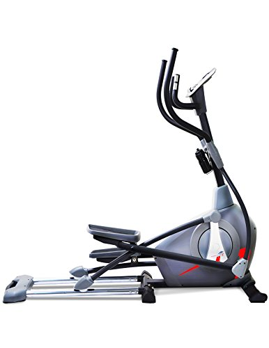 Sportstech CX650 elliptical cross trainer with smartphone/iPad app control - flywheel inertia 26 kg, 5x HRC - 22 training programs - 32 resistance levels - exercise bike tablet compatible stepper workout machine - new cardiovascular trainer nordic walker