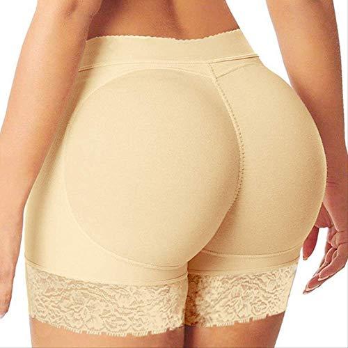 SKLOAM Hot Butt Lifter Hüftvergrößerer Former Boyshort Control Höschen Frau Fake Ass Unterwäsche Push Up Padded Panties Buttock Shaper L Beige