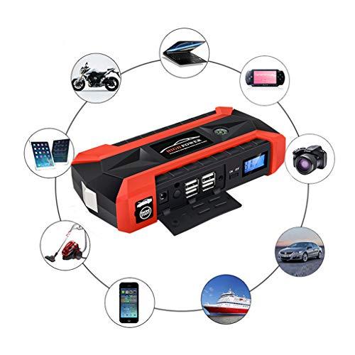 QHJ Powerbank Auto Starthilfe,89800mAh 12V LCD 4 USB Auto Jump Starter Pack Booster Ladegerät Batterie Power Bank (Multicolor)