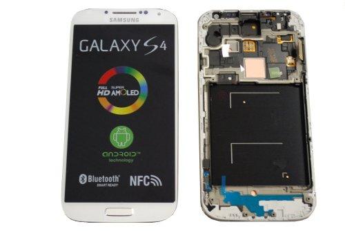 SKILIWAH® Pantalla completa para Samsung I9505 Galaxy S4 (LCD, cristal, táctil), color blanco