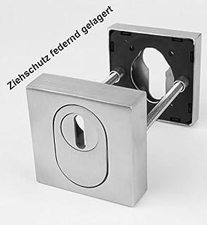 Befestigung 400mm ToniTec Stossgriff Edelstahl f/ür Haust/ür T/ürgriff Set Schr/äg Rosettengarnitur