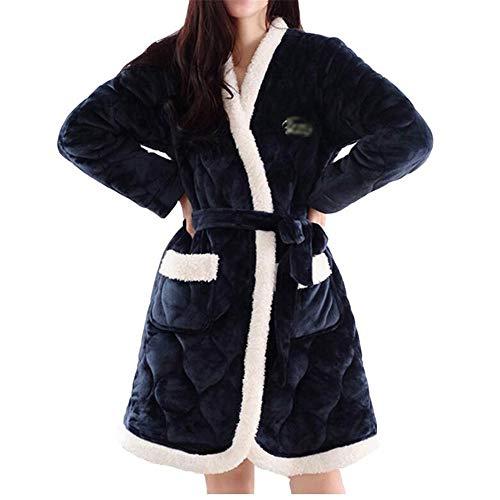 WDS das lässige Pyjama Farbe kreativ Pyjama komfortable multifunktions - warmen Bademantel (Farbe: naht, Farbe, größe: m)