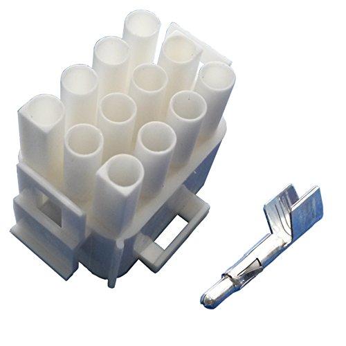 Preisvergleich Produktbild MATE-N-LOK Steckergehäuse 12 polig mit Steckkontakten (für 3, 0 mm² bis 6, 0 mm² Kabelquerschnitt) Stecker Wohnmobil Wohnwagen Caravan Elektroverteilung Elektroversorgung Schaudt Calira
