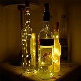 ALOKIE Stella tappo per bottiglie di vino filo di rame luce a LED luce per bottiglia fai da te, feste, Natale, Halloween, matrimonio