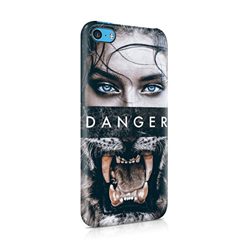 Wild Lion Inked Naked Tattoo Girl Custodia Posteriore Sottile In Plastica Rigida Cover Per iPhone 7 & iPhone 8 Slim Fit Hard Case Cover Danger Girl