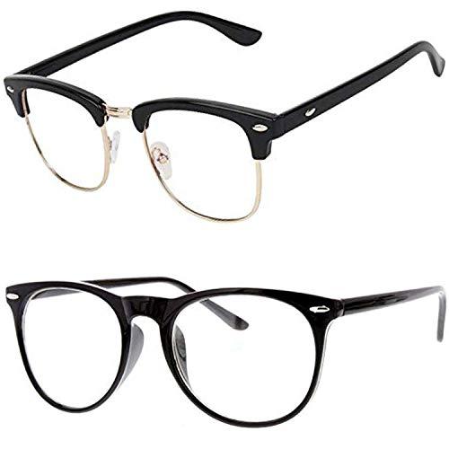 Y&S Spectacle White Unisex Eyeglasses Combo