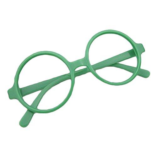 Juleya Kinder runder Gläser Rahmen - Kinder Brillen Geek/Nerd Retro Reading Eyewear Keine Objektive...