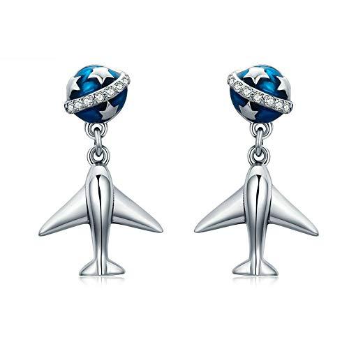 LVYE1 S925 Sterling Silber Ohrringe Hypoallergen Aircraft Modelling Personalisierte Kreative Ohrringe Weibliche Mode Ohrringe Geschenk