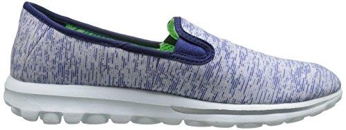 Skechers prestazioni Go Passeggiata Vivid scarpa Slip-on Walking Blue/White