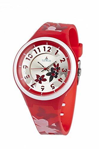 Lenco CPLENCOAQUARED Aqua Analog Watch For Couple