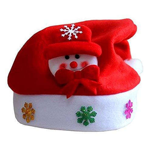 """"""" Seitor Chapeaux de Noël pour adulte confortable Bonnet Père Modèle wapiti de neige Tissus non tissés Chapeau de Noël """""""