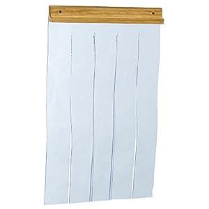 Ferplast Dog kennel door for model DOMUS MEDIUM and CANADA 2, Outdoor kennel door, Transparent PVC rainproof, windproof, coldproof, 27,5 x h 42 cm